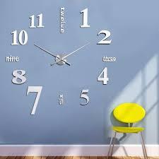 Wohnzimmer Wanduhren Modern Wand Uhr Wohnzimmer Wanduhr Wandtattoo Aufkleber Deko Xxl 3d