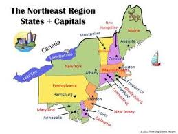 northeast united states map with states and capitals region interactive states capitals powerpoint worksheet blank map
