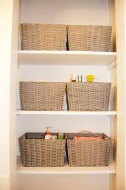 Bathroom Basket Storage by Storage Shelves With Baskets Preferred Home Design