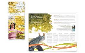 health insurance company brochure template design