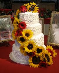 sunflower wedding decorations wedding cakes sunflower wedding cake pics sunflower wedding