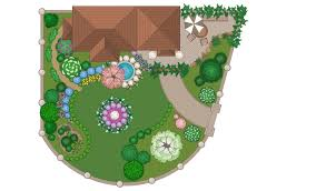 Garden Layout Template by Landscape U0026 Garden Solution Conceptdraw Com