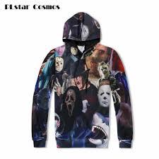 plstar cosmos 2017 harajuku men women hoodie 3d horror movie