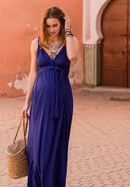 robes longues pour mariage robe de soirée grossesse bleu profond longue décolleté idéale