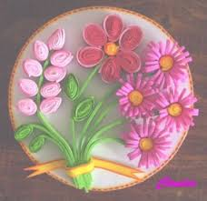 flores de foamy lindas manualidades cajia redonda con flores en filigrana foamy