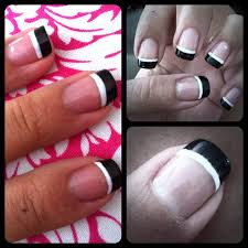 diy manicure of the week double frenched tips french pedicure