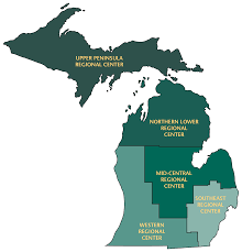 State Of Michigan Map by Mi Ahec Wayne State University