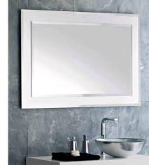 bathroom cabinets white framed mirror discount bathroom mirrors