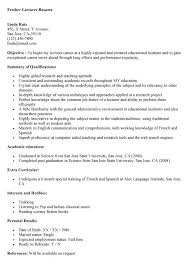 Sample Resume For Assistant Professor In Computer Science stunning sample resume for lecturer 69 in resume format with