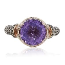amethyst engagement rings le vian 14k rose gold amethyst and diamond ring