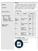 Resume Title Examples For Mba Freshers by Sample Mba Fresher Resume Résumé Graphic Design