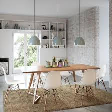 White Modern Dining Room Sets Modern Danish Mid Century Dining Suite U0026 Pc Natural Timber U0026 White