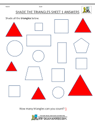 shapes worksheet for kindergarten u0026 worksheet on shapes for