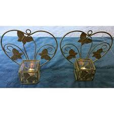 Candle Holder Wall Sconces Moth To The Flams 2 Candle Holders Hanging Wall Sconces