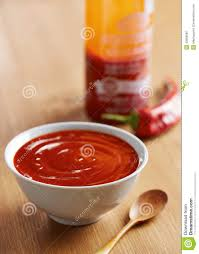 sriracha bottle vector bowl of sriracha sauce stock photo image 43689887