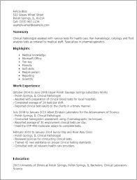 Examples Of Skills In Resume by Professional Clinical Pathologist Templates To Showcase Your
