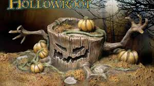 haunted tree stump a halloween fantasy collectible statue by