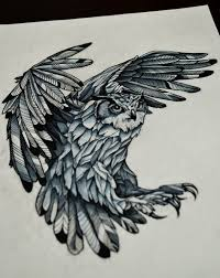 furious attacking owl tattoo design tattooimages biz