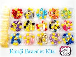 party favor bracelets emoji party favors diy bracelet kits makes 15 bracelets