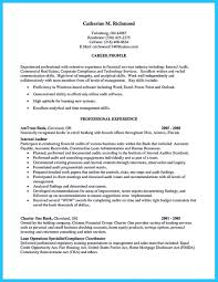 Financial Services Operation Professional Resume Making A Concise Credential Audit Resume
