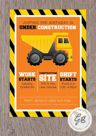 truck birthday party dump truck birthday party invitations we like design