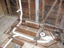 plumbing layout for basement bathroom