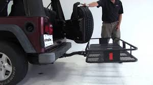 cargo rack for jeep review of the curt 24x60 hitch cargo carrier on a 2004 jeep