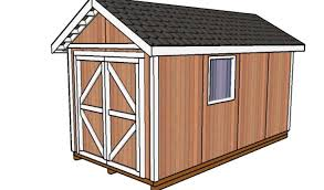 8x16 shed plans howtospecialist how to build step by step diy
