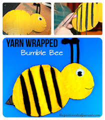 yarn wrapped bumble bee craft u2013 the pinterested parent