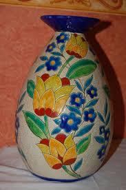 Deco Vase Charles Catteau For Boch Frères Keramis Art Deco Vase D 2779