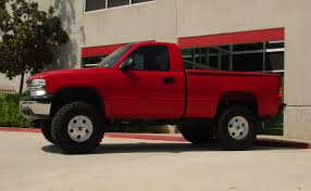 lifted gmc red cst performance suspension lift kits for 1999 2006 chevy