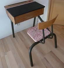 bureau vintage design bureau d écolier écoré en et noir meubles et mobilier