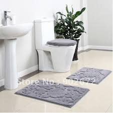 Bathroom Floor Rugs Bathroom Rug Toilet Lid Set Bath Mats 4 Bath Rug Set