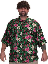 Halloween Hawaiian Shirt by License To Wear Mens Flowered Button Down Chunk Goonies Club Shirt