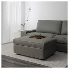 gray storage ottoman kivik footstool with orrsta light grey ikea