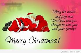 santa wish merry quote for friends