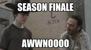 Rick Grimes Crying Meme - season finale awwnoooo crying rick grimes quickmeme