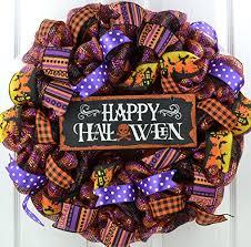 amazon com halloween wreath decorations happy halloween deco