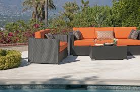 outdoor wicker deep seating outdoor furniture sunbrella cushion