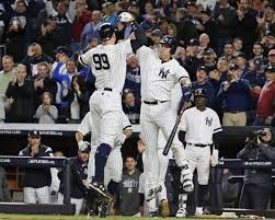 Aaron Judge Gary Sanchez Struggle In Game 1 Loss To Indians Newsday - bullpen aaron judge save yankees from disastrous luis severino
