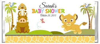 baby lion king baby shower shower candy wrapper lion king