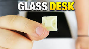 computer in glass desk easy way to hide cables for glass desks tutorial youtube