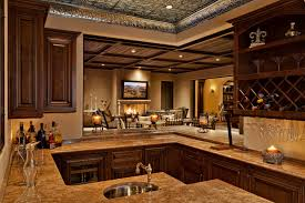 dramatic ceiling design for room and circular kitchen sink feat