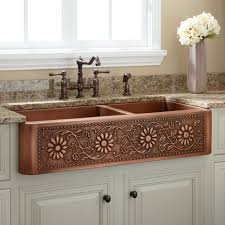 Farmhouse Kitchen Faucet by Kitchen Faucets Farmhouse Kitchen Faucet With Attractive Copper