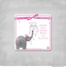 pink and grey elephant baby shower elephant baby shower invitation design graphics