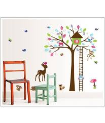 Owl Pictures For Kids Room by Asmi Collection Pvc Wall Stickers Tree House Monkey Owl Deer For