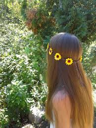 hippie flower headbands flower crown flower headband sunflower crown yellow daisies