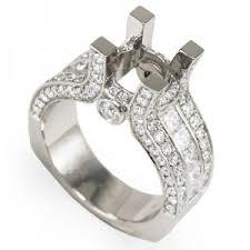 semi mount engagement rings stylish semi mounts for rings 950 platinum wide semi mount