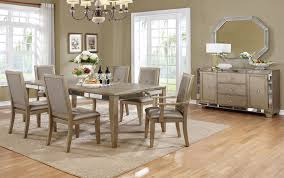 dining room furniture sets dining room furniture set mirrored accents inside idea 12