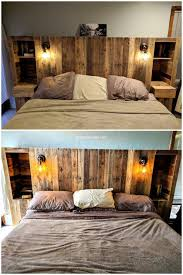 Pallet Wood Headboard 150 Diy Ideas For Wood Pallet Bed Headboards Diy Motive